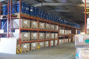 Indoor Warehouse Storage including Drums and IBC